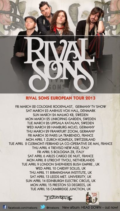 Rival Sons tour 2013